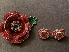 Kleshna Poppies Rare Brooch And Earrings