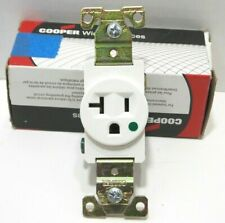 Cooper Wiring 8310w Single Receptacle Hospital grade 20a 125v Power Outlet