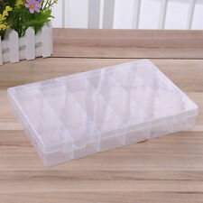 36 Grids Plastic Clear Empty Nail Art Tips Beads Rings Jewelry Storage Case Box