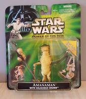 Star Wars POTJ AMANAMAN - 2001 w/Salacious Crumb MOC Fans Choice FREE Shipping!