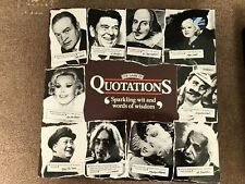 MB - The Game Of Quotations - Vintage Board Game