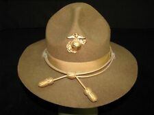Dated 1944 Marine Corps Service Hat With Officer's Gold Cord