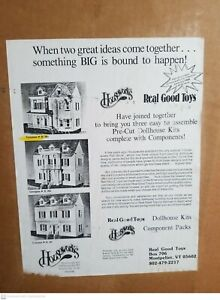 Rare Vintage 1988 Real Good Toys Houseworks Ltd. Victorian  Dollhouse Kit # H303