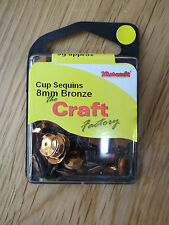 The Craft Factory Cf01/408 | Cup Sequins 8mm Approx 5g Bronze