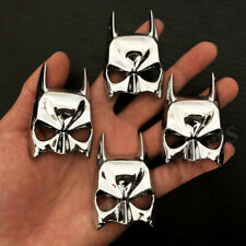 4pcs Metal Chrome Batman Dark Knight Mask Face Car Emblem Badge Decal Sticker