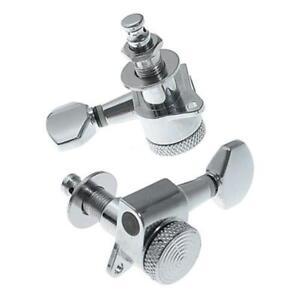 Guitar String Inline Tuning Pegs Locking Tuners Keys Machine Heads Chrom L&6