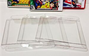 50 Box Protectors For NINTENDO 3DS Video Game Boxes  Crystal Clear Cases Sleeves