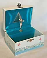 Vintage Girl's Musical Jewelry Box Dancing Ballerina, Somewhere Over the Rainbow
