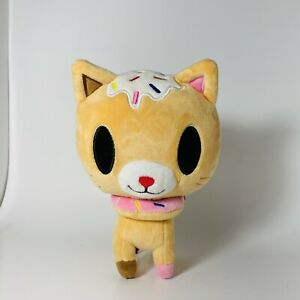 "Tokidoki Biscottino Donut Cat 8"" Plush Toy Kitty Aurora Tan Pink Stuffed Animal"