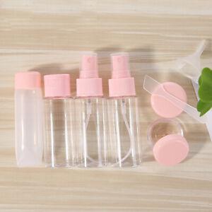 8 PCS/Set Travel Size Mini Empty Bottle Pot Spray Tool Refillable PVC Container