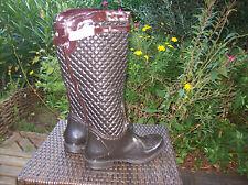 très belles bottes de pluie neuves chocolat .t 40 .(29/A/G)