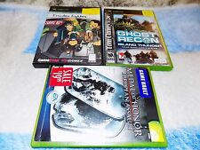 3X LOT XBOX Medal of Honor European Assault,FREEDOM FIGHTERS,GHOST RECON ISLAND