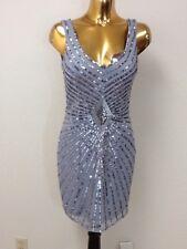 aidan mattox women sequin dress: size 8