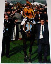 Jenny & Mark Pitman personalmente firmado foto 1991 Gold Cup Garrison Savannah