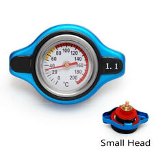 Blue Thermostatic Gauge Radiator Cap 1.1 bar Small Head for Honda Toyota