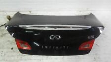 07 08 INFINITI G35 Trunk/Hatch/Tailgate 4 Door Sedan With Spoiler BLACK OEM