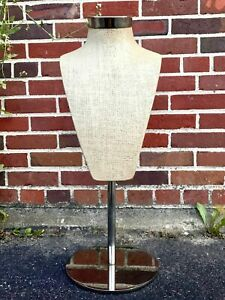 Silvestri Mannequin Display Counter Top Necklace Bust Jewelry Scarf Tie