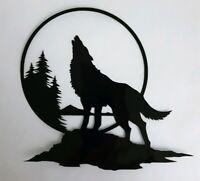 Wolf Howling Moon Sticker VINYL DECAL Window PC Case Halloween Horror Car