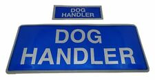 More details for encapsulated reflective dog handler badges sewn on or hook and loop xs & m