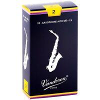 Vandoren Alto Saxophone Reeds Strength 2 Box of 10