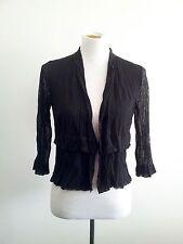 Effortless Style! Verge (N.Z.) size S black mesh bolero top with 3/4 sleeves
