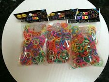 15000 MIXED RAINBOW FUN LOOM Rubber BANDS LOOM+Clips/600 Per Pack/25 packs MIXED