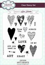 Creative Expressions Lisa Horton Arty Corazones A5 transparente conjunto de sello