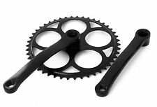 Single Speed Crankset 44T Black Retro Crank - Suit 3 4 5 Speed Sturmey Archer