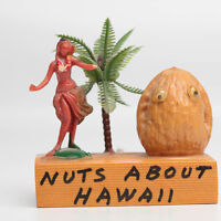Nuts About Hawaii red Hula Girl Vintage Souvenir