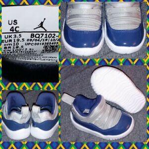 Nike Jordan 11 Retro Little Flex TD Grey Navy Georgetown XI BQ7102-007 4C~NWOB
