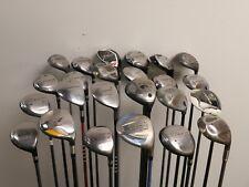 Lot of 24 Golf Club Woods Callaway Cobra Ping Adams Taylormade MSRP $3800