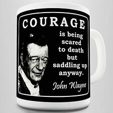 John Wayne Courage Quote Coffee Mug