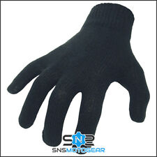 Thermal Cotton Inner Liner Motorcycle Motorbike Gloves - One Size - Black