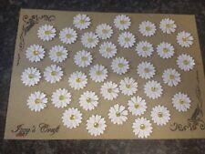 50 Doble Blanco Daisy Flor elaboración de tarjetas, #37, Adornos, mucho trabajo Artesanal
