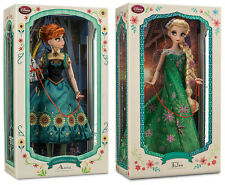 """Disney Store FROZEN FEVER ANNA ELSA DOLL 17"""" Limited Edition 3960 of 5000"""