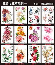 12 pcs Temporary Tattoos Tattoo Stickers Waterproof Flowers Arm Fake Transfer
