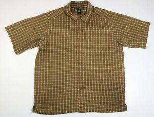 Exofficio Men's Button Up Plaid Short Sleeve Outdoor Shirt Size M