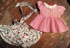 Two Vintage Handmade Doll Dresses (As Is) Extra Small