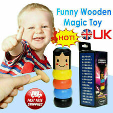 UK Unbreakable Wooden Magic Toy The Wooden Stubborn Man Toy FUNNY Kids Gifts