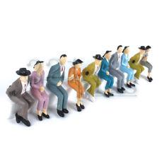 10 Stk. Sitzende Modellbau Figuren 1:24 Miniatur Eisenbahn Zubehör Menschen 1:25