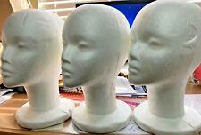 1 Pc Styrofoam White Foam Mannequin Display For Hat Cap Wig Musk Female 11