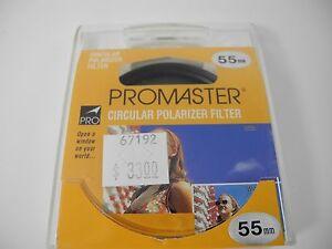 PROMASTER UNUSED 55MM FILTER POLARIZER PERFECT BOXED FOR NIKON PENTAX LEICA