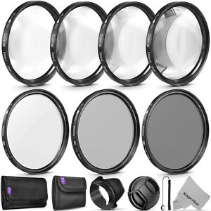 52MM Altura Photo UV CPL ND4 Lens Filter and Close-Up Macro Accessory Kit