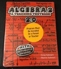 Teaching Textbooks Algebra 2 (2.0 Version) Auto Grading CDs Only ( BRAND NEW!)