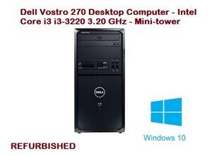 REFURBISHED Dell Vostro 270 MT Intel Core i3-3220 3.30GHz 4GB RAM WIN 10 PRO