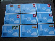 LAS NACIONES UNIDAS (postal- ginebra) - 9 folios entero (cy81) united NATIONS