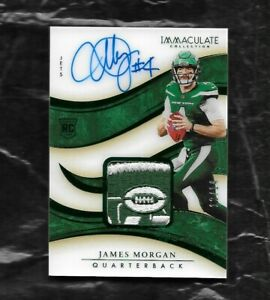 2020 PANINI IMMACULATE JAMES MORGAN RC RPA JET PATCH 12/14