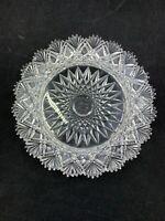"American Brilliant Period 6.25"" plate fan edge hobstar center diamond panel ABP"