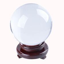 Gran Cristal Claro Bola 150mm Cuarzo Esfera Orb lugar Soporte libre de Decoración