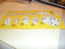 10 RARE GAMBLING CARDS FROM PREMIER CARD VENDOR 1950`S